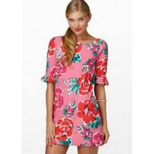 Lilly Pulitzer Somerset Red Floral Cotton Dress